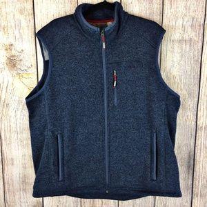 Orvis Denali Blue Fleece Lined Sweater Vest Sz XXL